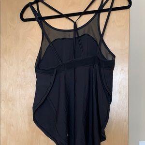 Lightweight lululemon black mesh top